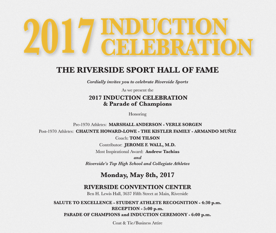 Buy your Riverside Sport Hall of Fame tickets!
